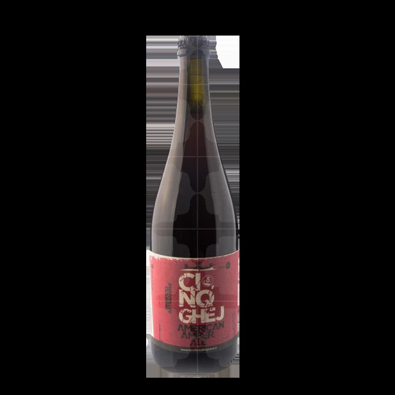 BIRRA CINQGHEJ lt 0.75 (American Amber Ale)