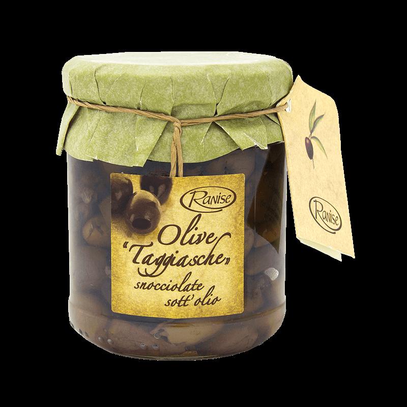 OLIVE TAGGIASCHE snocciolate in olio vaso