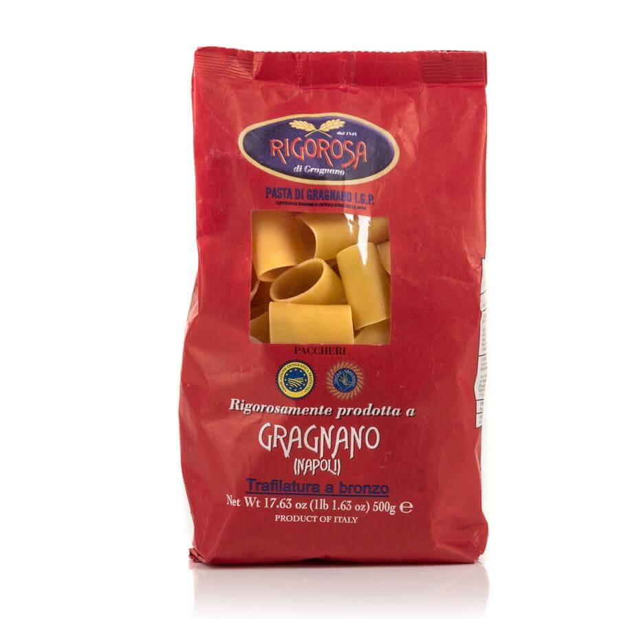 Paccheri Pasta di Gragnano IGP trafilata a bronzo Rigorosa dal 1848 g 500