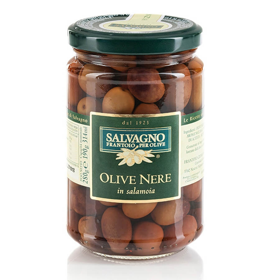 Olive Nere Aromatizzate in Salamoia Salvagno g 280