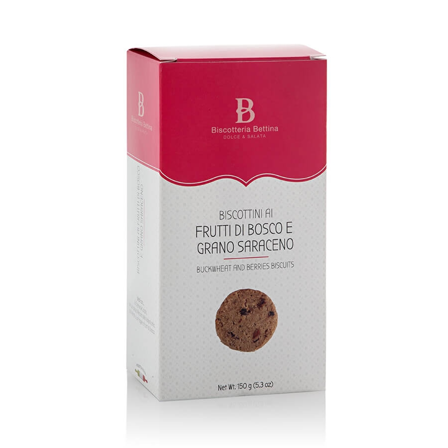 Biscottini ai Frutti di Bosco e Grano Saraceno Biscotteria Bettina g 150