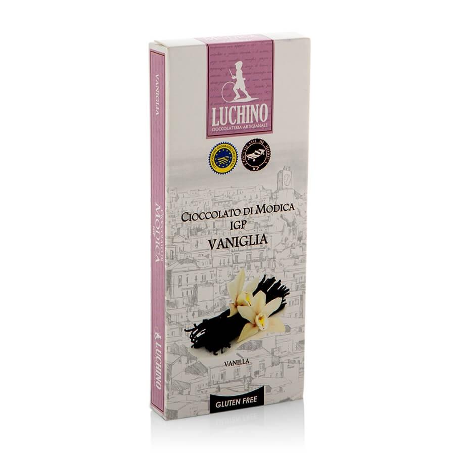 Cioccolato di Modica IGP alla Vaniglia Gluten Free Luchino Cioccolato g 100