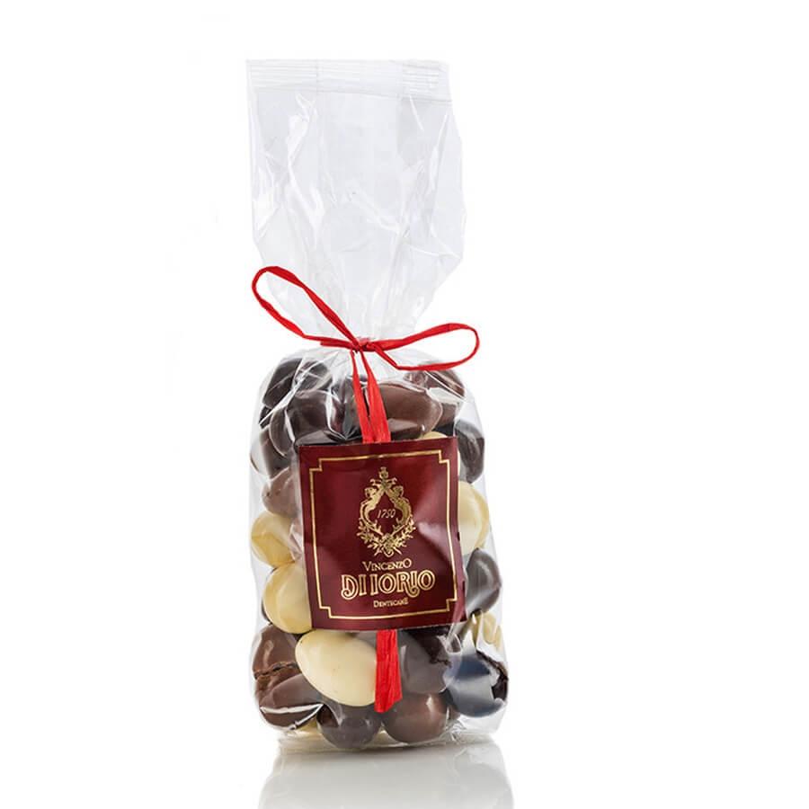 Nocciole e Mandorle Cioccolato Bianco, Latte e Fondente Di Iorio g 200