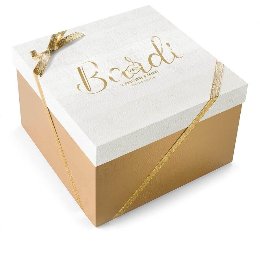 Panettone di Pasticceria Bardi Limited Edition (Tipo Basso) in elegante confezione regalo kg 1