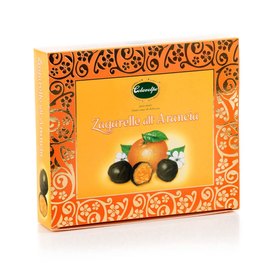 Praline di Arancia Candita ricoperte di Cioccolato Fondente Extra Colavolpe g 250