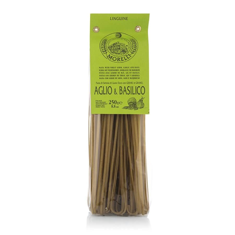 Pasta Linguine Aglio e Basilico Pastificio Morelli g 250