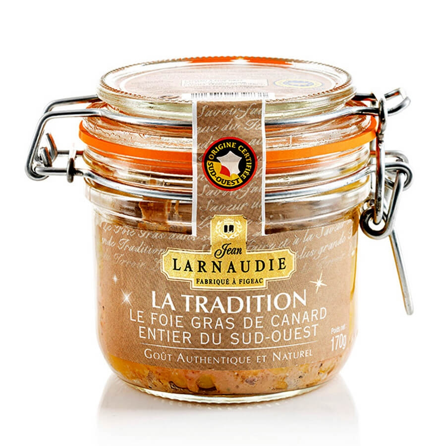 Foie Gras d'Anatra La Tradition IGP Sud Ovest Jean Larnaudie g 125