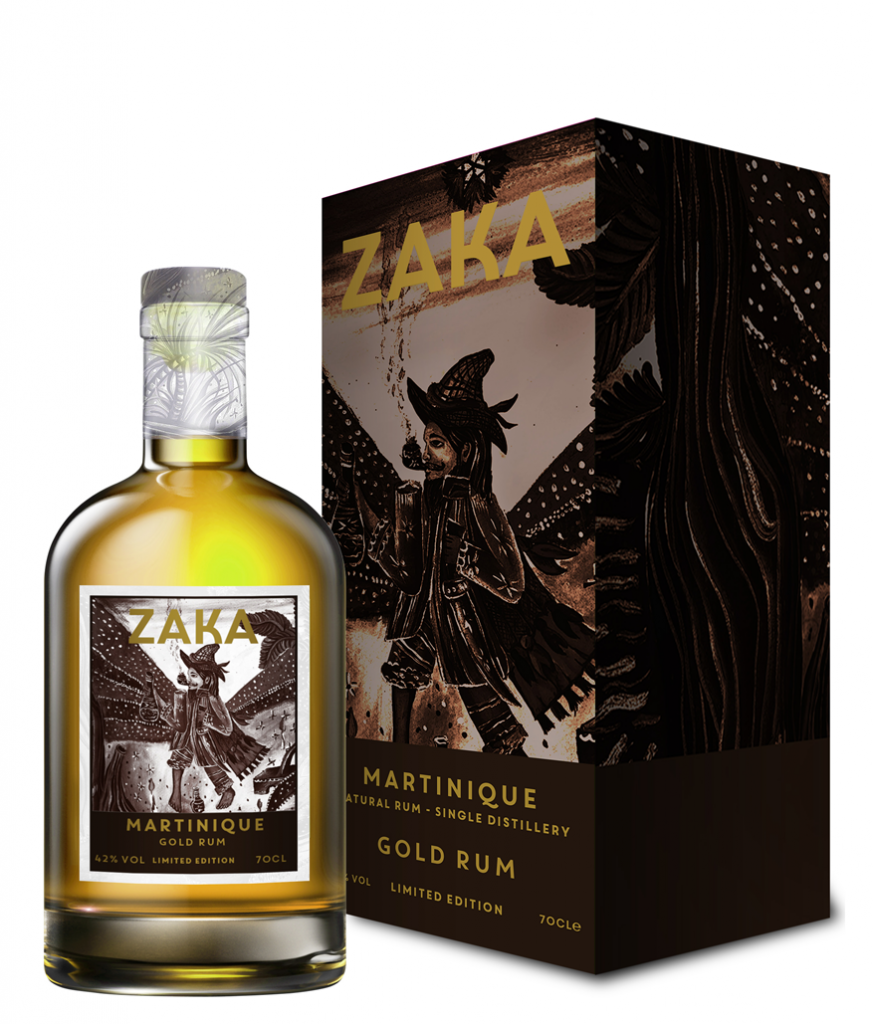 ZAKA RUM MARTINIQUE GOLD 42° RUM 700 ML ASTUCCIATO