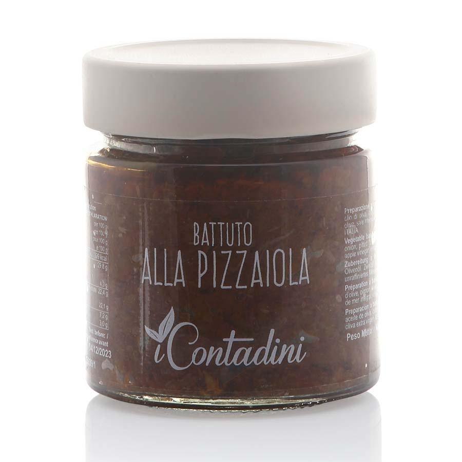 Battuto alla Pizzaiola (pomodori, cipolla, olive leccina, capperi in olio evo) I Contadini g 230