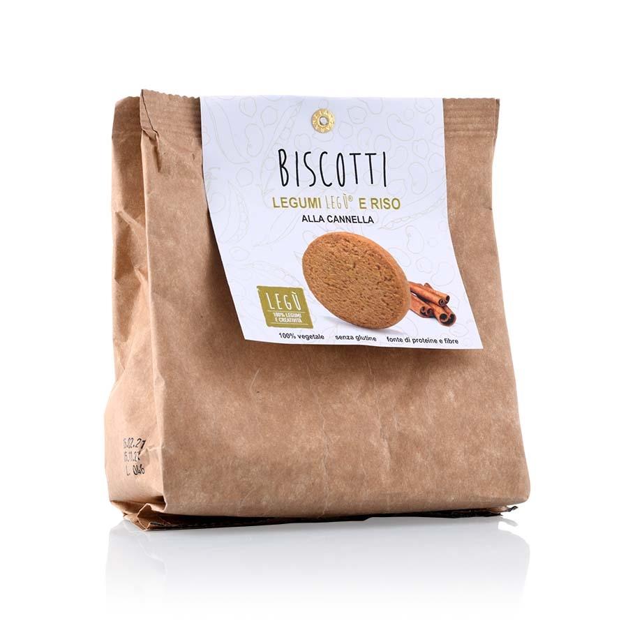 Biscotti di Riso, Legumi e Cannella Legù g 140