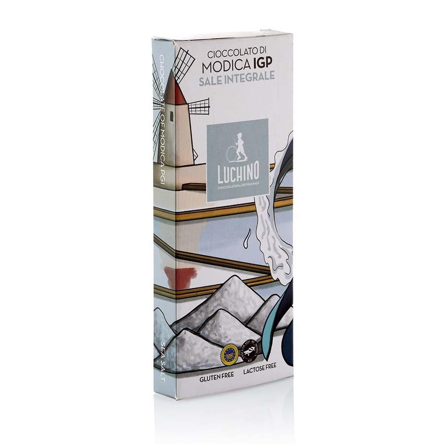 Cioccolato di Modica IGP al Sale di Trapani gluten free Luchino Cioccolato g 100