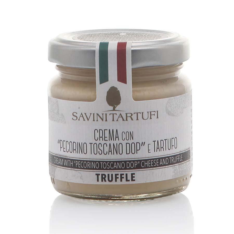Crema con Pecorino Toscano DOP e tartufo Savini Tartufi g 90