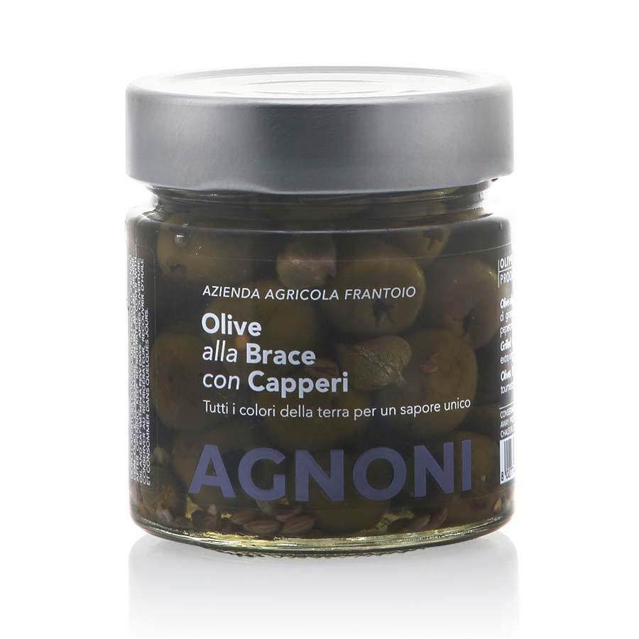 Olive alla Brace con Capperi denocciolate Agnoni g 210