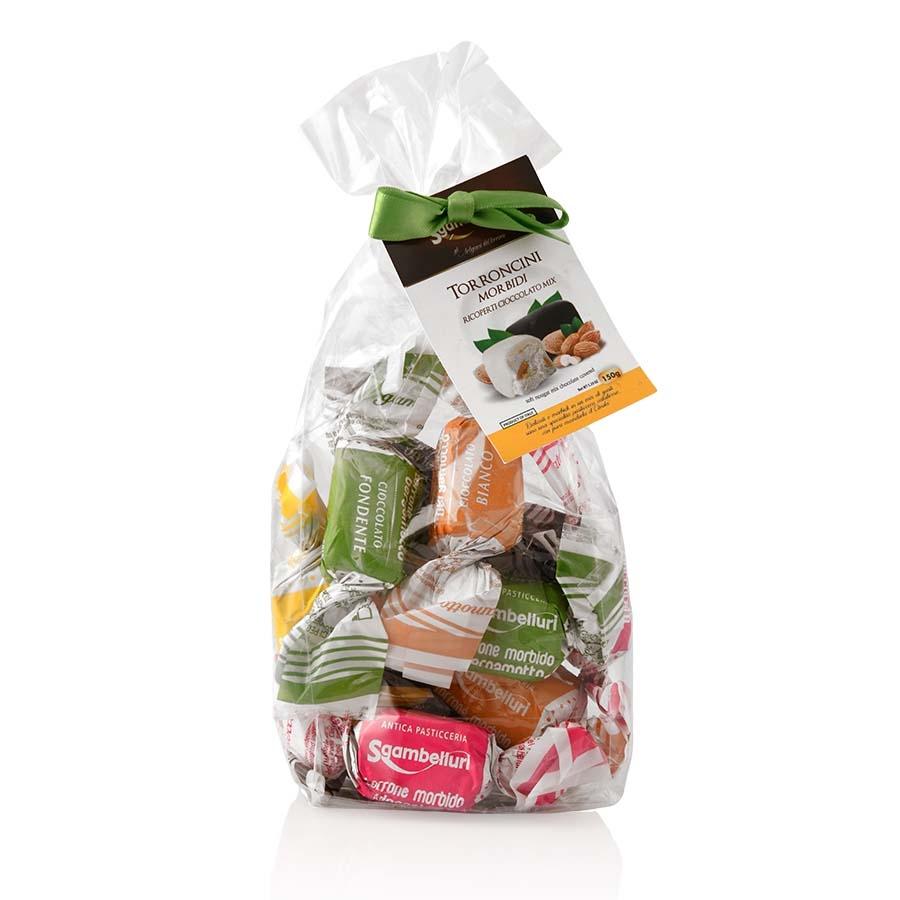 Torroncini Morbidi ricoperti di Cioccolato Mix Sgambelluri sacchetto g 150
